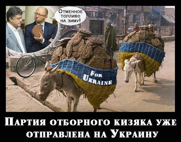 Кизяк для Украины
