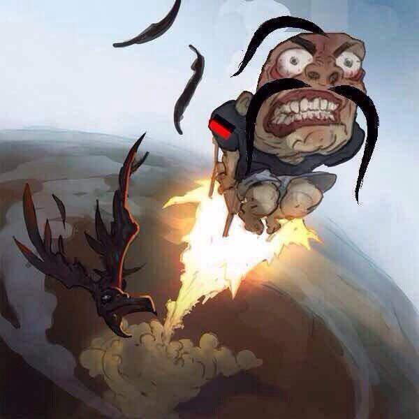 Хохол летит на горящем пукане укроп